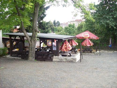Letní terasa Pensionu Pleštil